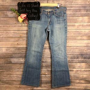 COH Ingrid stretch low waist flare light wash jean
